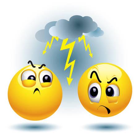 n�vrose: Smiley balle haineux un autre smiley balle