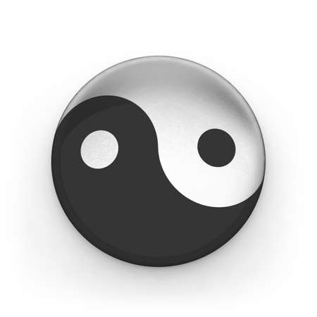 Metallic sing yin yang photo