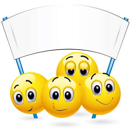 Bolas de sonriente en la reunión