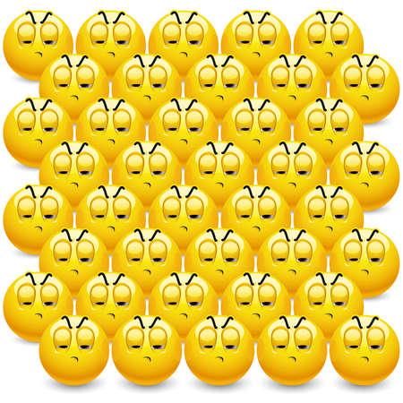 vaincu: Smileys regarder leur �quipe �tant battu