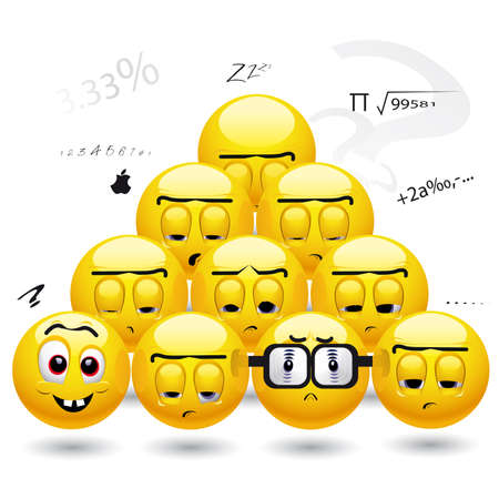 Students getting bored and sleepy in classes Stock Vector - 5877524