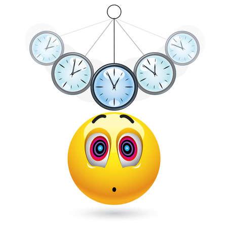 hypnotism: Bola de Smiley ser hipnotizado con reloj