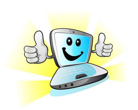 powerbook: Laptop computer Illustration