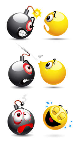 manipulate: Smiley ball and smiley bomb   Illustration