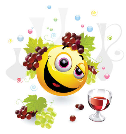 bacchus: Smiley ball as Dionysus