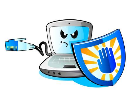 Laptop computer and Security Vector