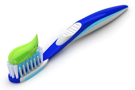 grooming product: Toothbrush with toothpaste