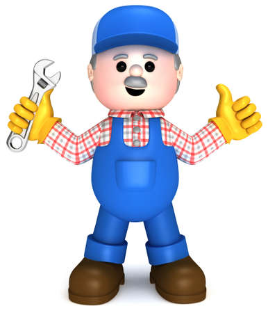 safety belt: Fully equiped craftsman mascot