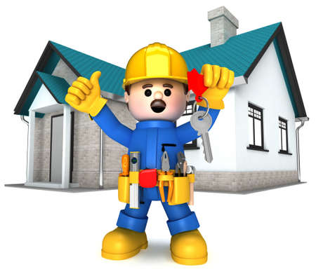 Fully equiped craftsman mascot photo