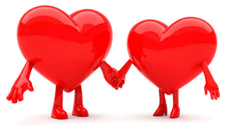 Heart shaped couple photo