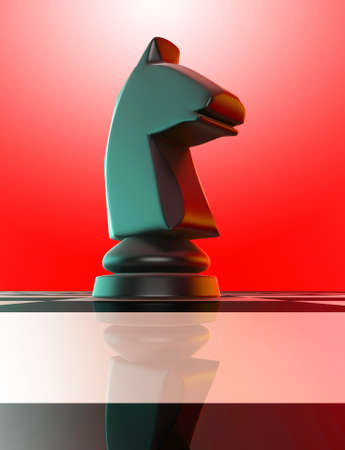 caballo negro: Caballo negro en el tablero de ajedrez