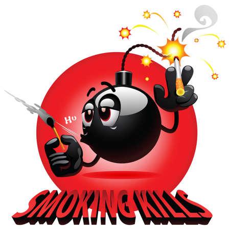 clumsy: sigaretta fumatori di smiley bomba