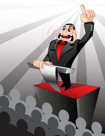hablar en publico: Político celebración del habla y tratar de manipular