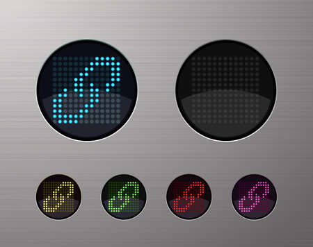 SHINY METALLIC WEB COMPUTER AND INTERNET BUTTONS Stock Vector - 15940971