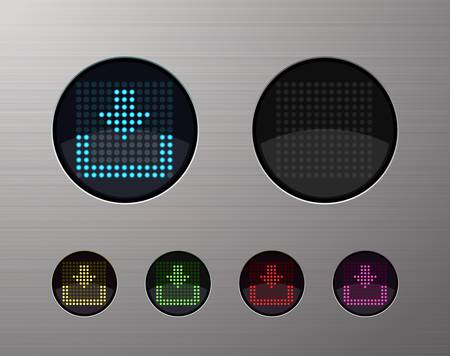 SHINY METALLIC WEB COMPUTER AND INTERNET BUTTONS Stock Vector - 15940974
