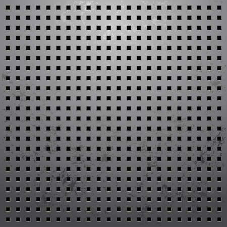 illustration of a metallic background with holes Vector