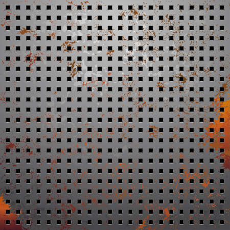 perforated surface: illustration of a metallic background with perforation