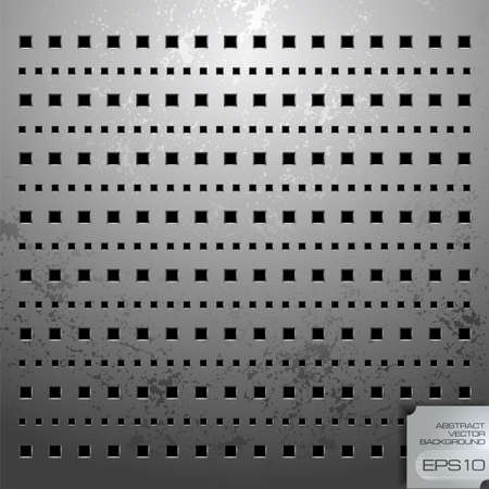 perforation:  illustration of a metallic background with perforation