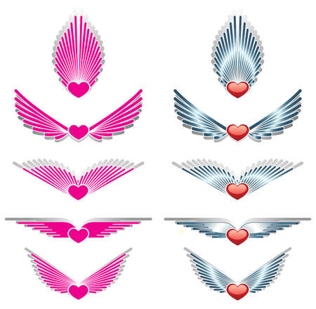 Wings and heart Stock Vector - 16730744