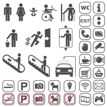 servicios publicos: Vector gris iconos conjunto sobre fondo blanco