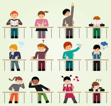 School days we have all been there 일러스트