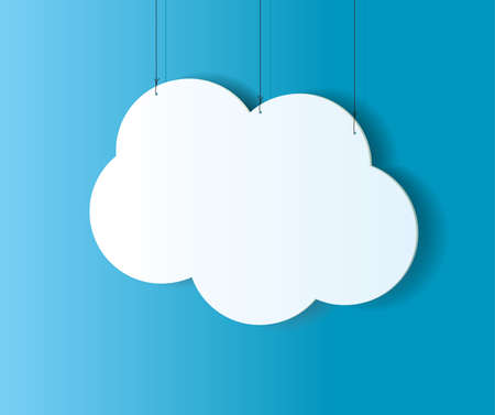 cloud tag: Cloud shaped badge, tag, banner, label and bookmark with space for text