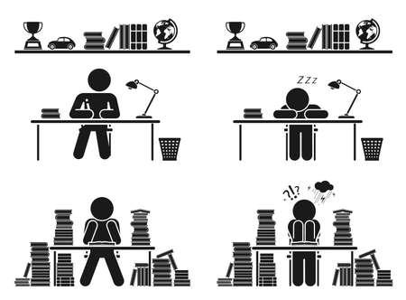 deberes: Volver a la escuela conjunto Vectores