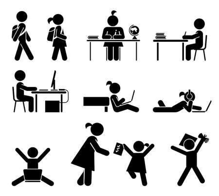 escritorio: Volver a la escuela conjunto Vectores