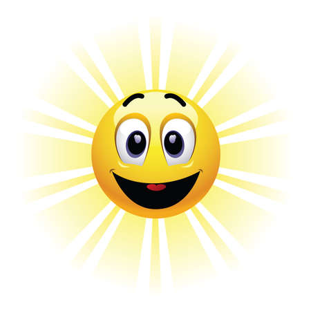 gratified: Positive smiling ball. Smiling ball being happy and enjoying.
