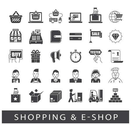 shopping icons: Various shopping icons. Premium quality elements. Can be applied for websites for online shopping.