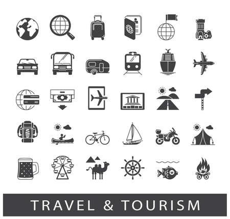 turismo: Colección de los viajes icons.for, viaje, vacaciones, viajes, medios de transporte. Colección de los elementos de infografía. gráficos de la tela.