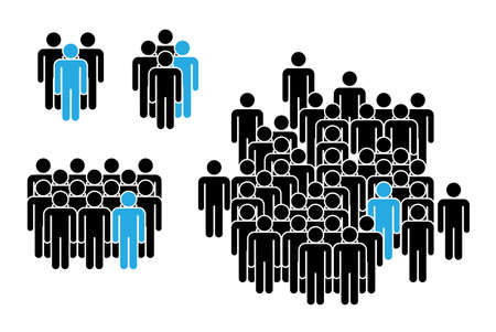Group of People. People Figure Pictogram Icons. Crowd signs.