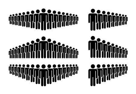 Group of People. People Figure Pictogram Icons. Crowd signs.  Stock Illustratie