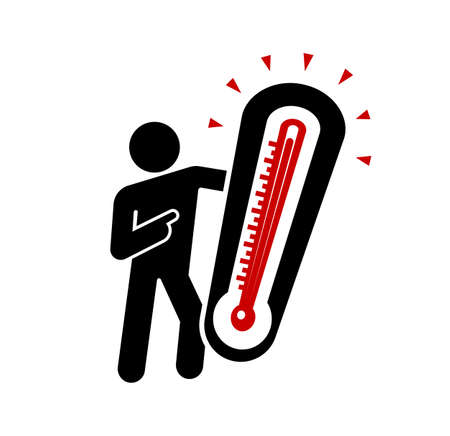 Concept of global warming. Pictogram sign represent extreme weather conditions. Illusztráció