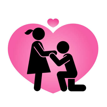 Pictogram representing a couple in love. A sign and symbol of romantic kisses and Valentines.