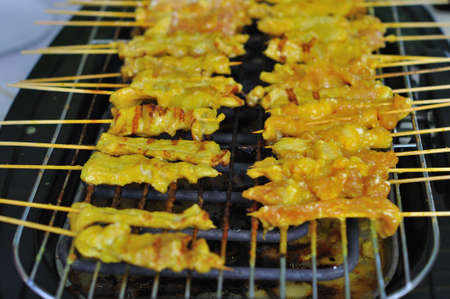 Grilled pork barbecue in Thai style photo