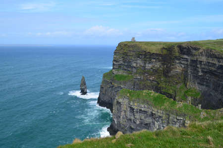 moher: Beautiful scenic Cliffs of Moher in County Clare Ireland. Stock Photo