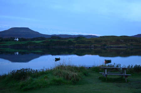 lothian: Pretty view of MacLeods Tables with Loch Dunvegan.