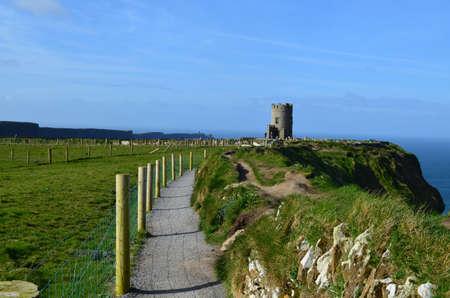 burren: The Burren Way on the Cliffs of Moher in Ireland.