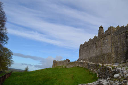 irish countryside: The outside walls of the Rock of Cashel in Ireland.