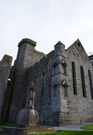 irish countryside: Tall standing ruins of the Rock of Cashel in Ireland.