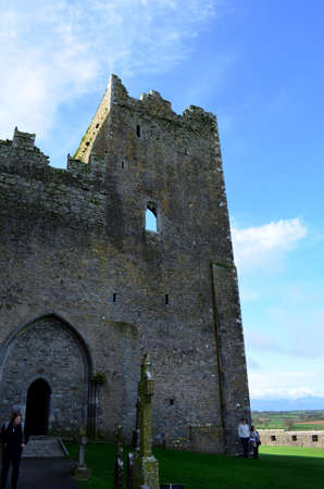 irish countryside: Towering ruins of the Rock of Cashel in Ireland.