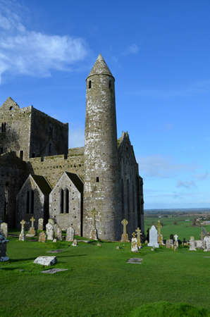 Round tower at the Rock of Cashel in Ireland.
