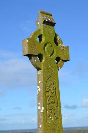 Pietra vecchia croce celtica Rocca di Cashel. Archivio Fotografico - 62018336