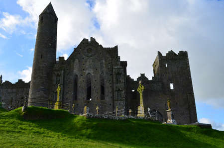 county tipperary: St Patricks Rock ruins in County Tipperary Ireland. Stock Photo
