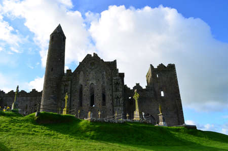 irish countryside: Clouds in the skies over the Rock of Cashel.