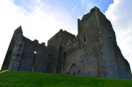 irish countryside: Standing ruins of the Rock of Cashel in Ireland.