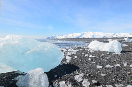 Stunning landscape of glacial ice in Iceland