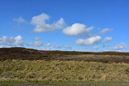 Stunning spring day on the moors of Northern England. 写真素材