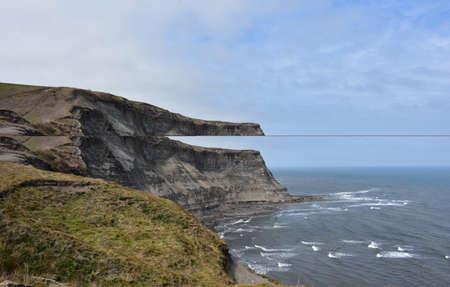 Views along the scenic coast to coast walk in England. Фото со стока